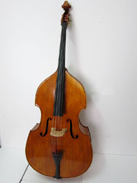 Busseto contrabass reddish brown over golden primer, hand varnished with shellac technical alcohol