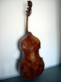 Italian-Cremona contrabass reddish brown over golden primer (ancient), hand varnished with shellac technical alcohol