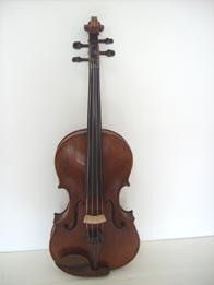 A. Stradivari Viola dark fulvous, hand varnished with shellac - technical alcohol