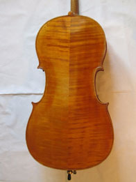 A. Stradivari-Davidov cello light chestnut yellow, hand varnished with shellac technical alcohol